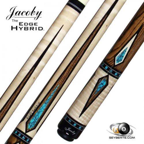 Jacoby HB7 Curly Maple Turquoise Point Cue