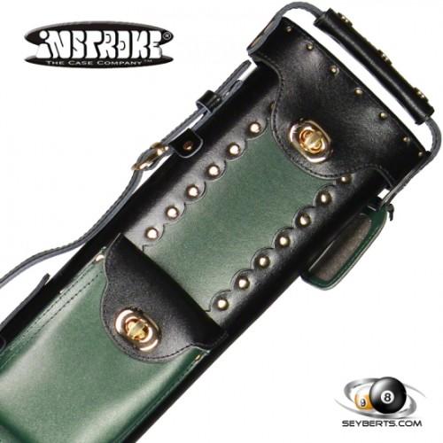 2X4 Black/Green Leather Geo Case