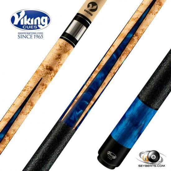Viking B4007 Blue Premium Pearl Play Cue Linen Wrap