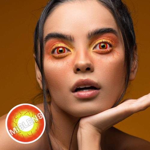 【LENSPOEM】Blood Streak Sith Eye Red Cosplay Colored Contact Lenses