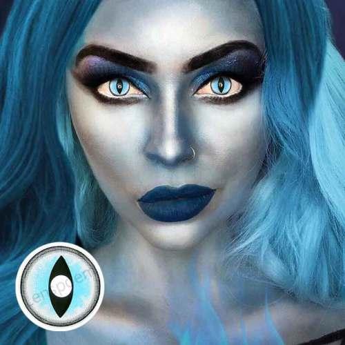【LENSPOEM】Sexy Cat Eye Blue  Halloween Contact Lenses