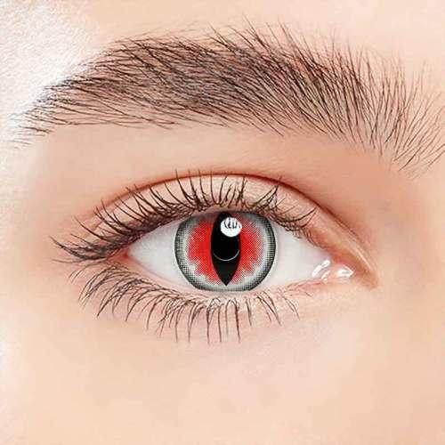 【LENSPOEM】Sexy Cat Eye Red Halloween Contact Lenses