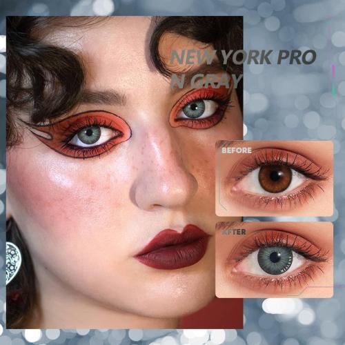 【U.S Warehouse】NEW YORK PRO N Gray  Contact Lenses
