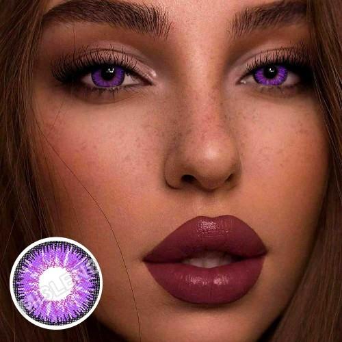 【LENSPOEM】Vika Tricolor Purple Colored Contact Lenses