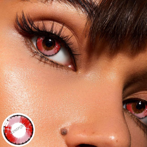 Spark Red Contact Lenses Yearly