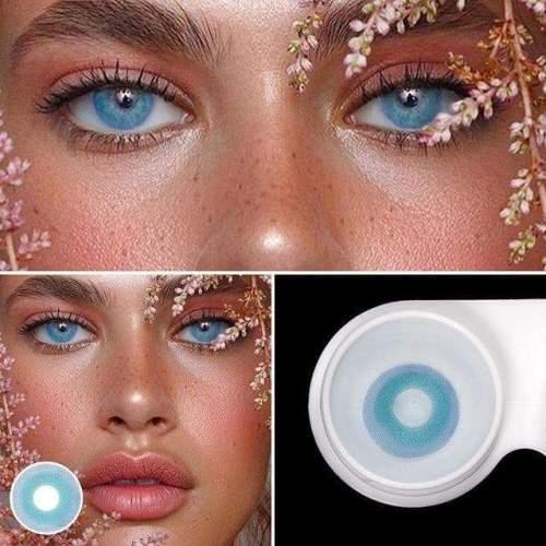 【LENSPOEM】Pixie Blue Prescription Colored Contact Lenses
