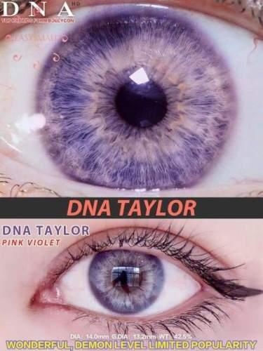 【LENSPOEM】Taylor Pink Violet Colored Contact Lenses