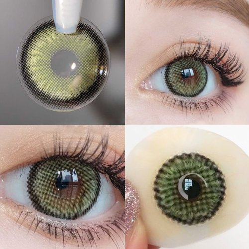 【LENSPOEM】Mirage Green Colored Contact Lenses