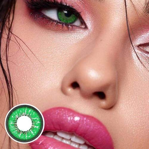 【US Warehouse】Love Words Green Colored Contact Lenses Yearly