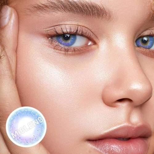 【LENSPOEM】Neon Blue Colored Contact Lenses