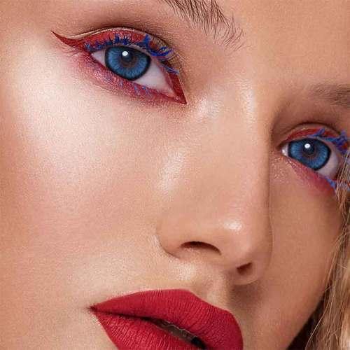 【LENSPOEM】Mirage blue Colored Contact Lenses