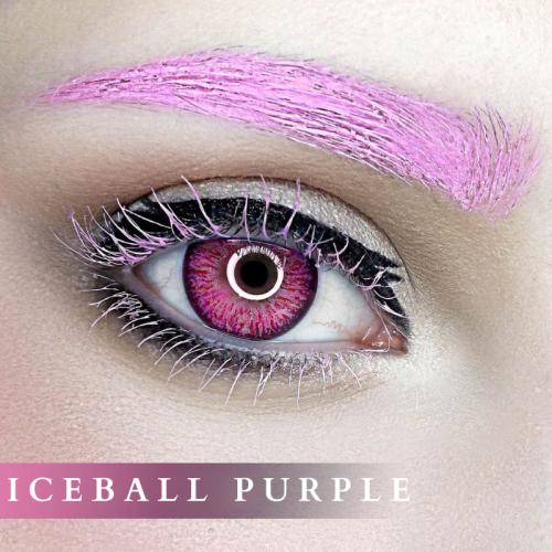 【LENSPOEM】Iceball Purple Colored Contact Lenses