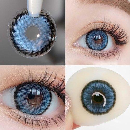 【LENSPOEM】Mirage blue Prescription Colored Contact Lenses