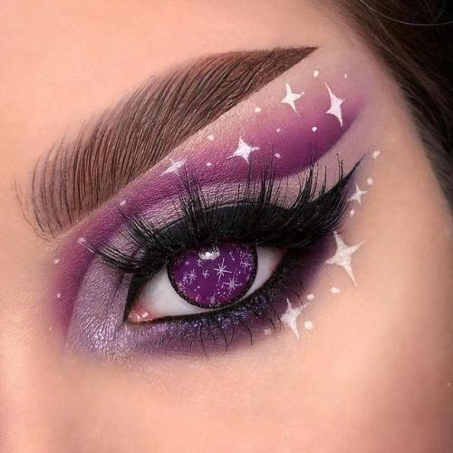 【LENSPOEM】Blind Midsummer Purple Snow Contact Lenses