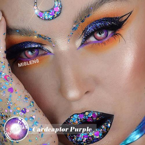 Cardcaptor Purple Colored Contact Lenses