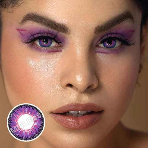 【U.S Warehouse】1-Day Tricolor purple Daily Contact Lenses(5 Pairs)