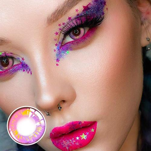 【LESPOEM】Anime violet Crazy Colored Contact Lenses