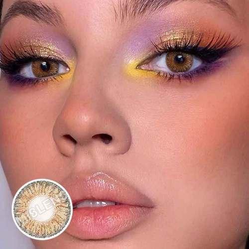 Glitter  hazel Contact Lenses