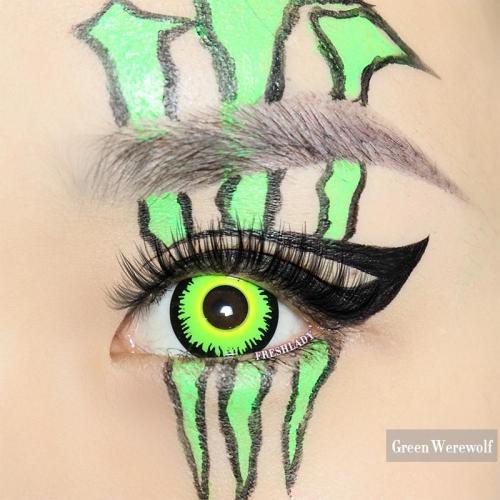 Green Werewolf  Halloween Contact Lenses