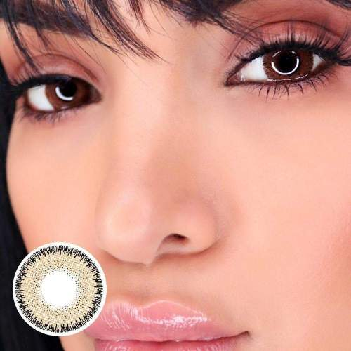 【LENSPOEM】Glow Radiant Hazelnut Brown Colored Contact Lenses