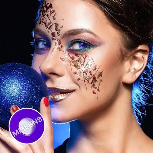 【LENSPOEM】Violet Block Purple Cosplay Colored Contact Lenses