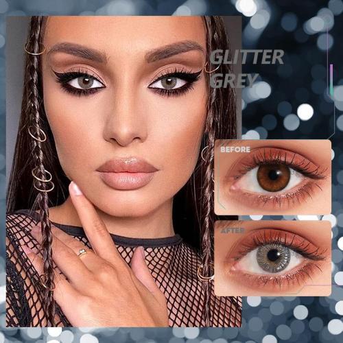 Glitter gray Contact Lenses