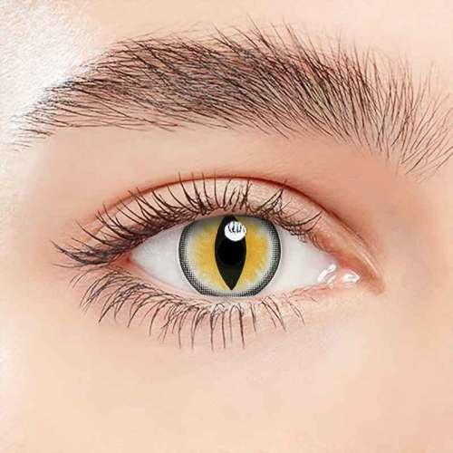 【LENSPOEM】Sexy Cat Eye Yellow  Halloween Contact Lenses
