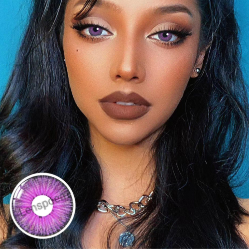【LENSPOEM】New York PRO Purple Colored Contact Lenses