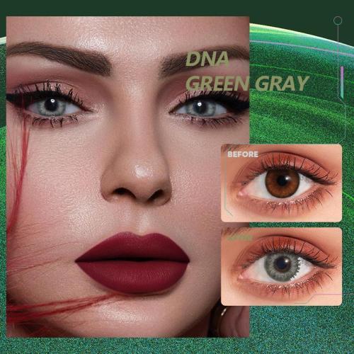 DNA Taylor  green gray Contact Lenses