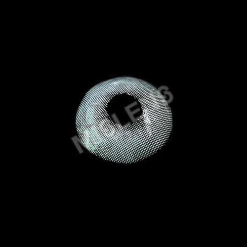 Lemon Greyish Snow Flake White Prescription Colored Contact Lenses