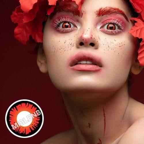【LENSPOEM】Red Wizards Halloween Contact Lenses