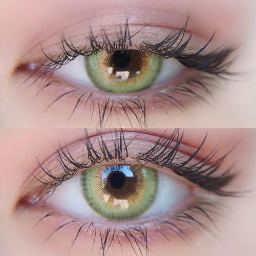 【LENSPOEM】HOKKAIDO Green Colored Contact Lenses