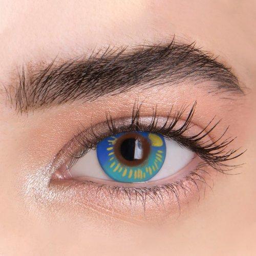 【LESPOEM】Anime blue  Crazy  Colored Contact Lenses