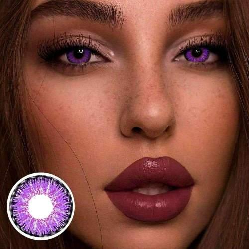 【LENSPOEM】tricolor purple Daily Contatc Lenses