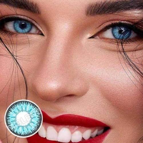 Vika Tricolor Blue Colored Contact Lenses