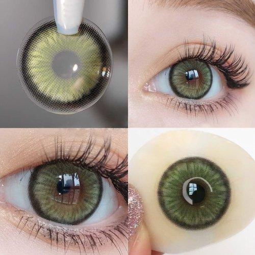 【LENSPOEM】Mirage Green Prescription Colored Contact Lenses