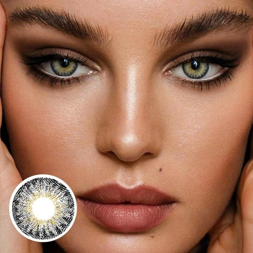 【US Warehouse】Forest Ember Brown Gray Colored Contact Lenses Yearly
