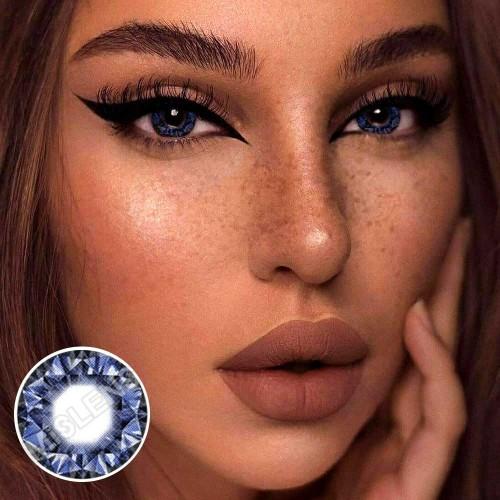 【LENSPOEM】Diamonds Blue Colored Contact Lenses