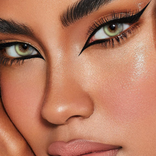 Girl Tears Brown Prescription Colored Contact Lenses