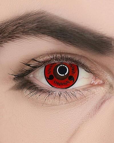 【LENSPOEM】Red Sasuke Uchiha Anime Cosplay Contact Lenses
