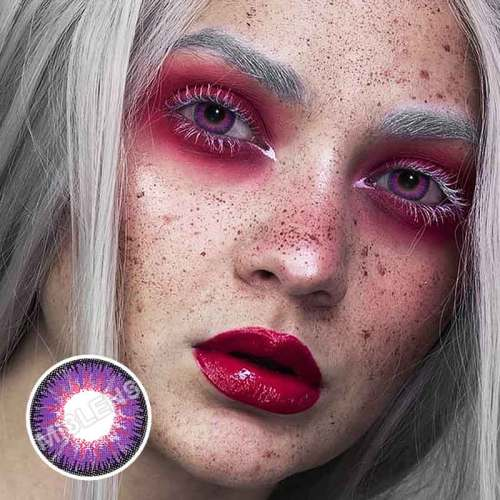 【U.S Warehouse】Vika tricolor purple Contact Lenses