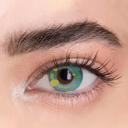【LESPOEM】Anime Green Crazy Colored Contact Lenses