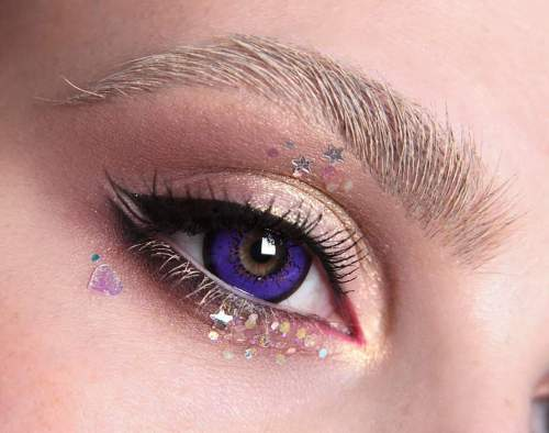 【LENSPOEM】Love Words Purple Colored Contact Lenses