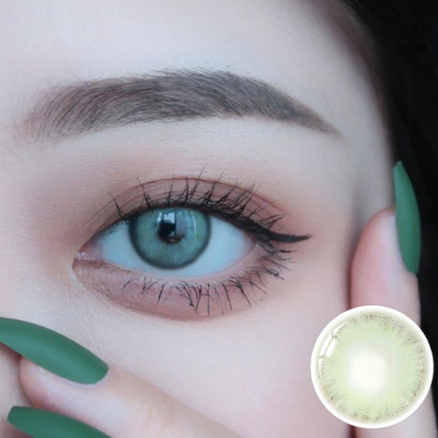 【LENSPOEM】Vienna Turquoise Green Colored Contact Lenses