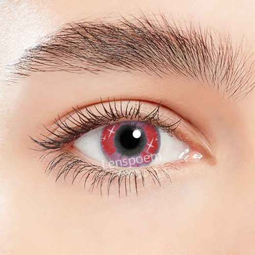 【LENSPOEM】 Spark Red Contact Lenses Yearly