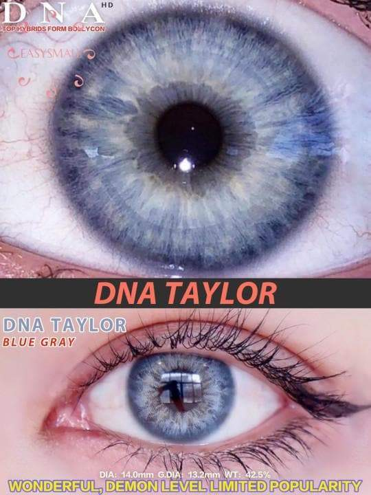 Taylor blue gray Prescription Colored Contact Lenses