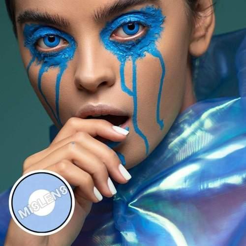 【LENSPOEM】Blue Manson Halloween Contact Lenses