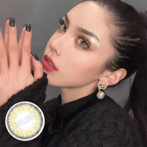【LENSPOEM】Crystal Brown  Colored Contact Lenses