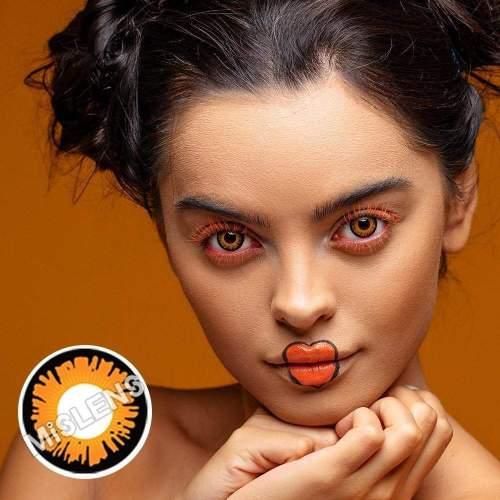 【LENSPOEM】Sun Moon Wilight Bella Yellow Cosplay Colored Contact Lenses