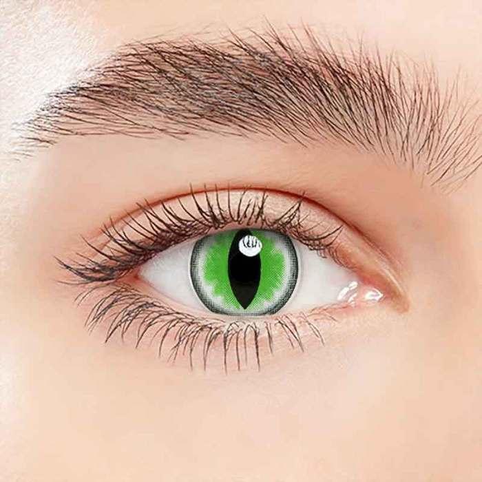 Sexy Cat Eye Green  Halloween Contact Lenses